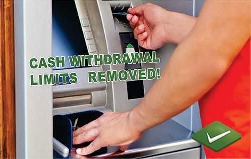ATM Withdrawal Limits Removed From 1st February, 2017
