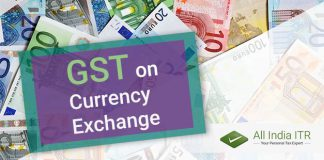 pay GST on exchanging Currency