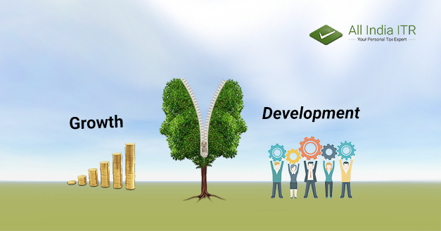 Growth and Development of Economy in relation to Taxes