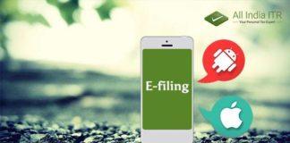 Advantage of e-filing ITR through app
