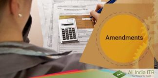Amendments in Income Tax Filing