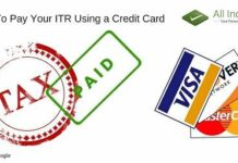 Pay Your ITR Using a Credit Card