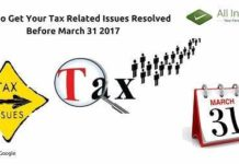 Tax Related Issues Resolved Before March 31 2017