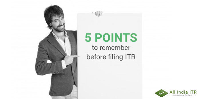 Filing ITR