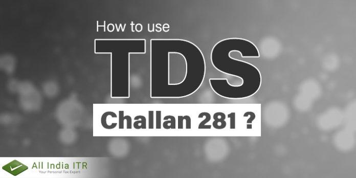 TDS challan 281