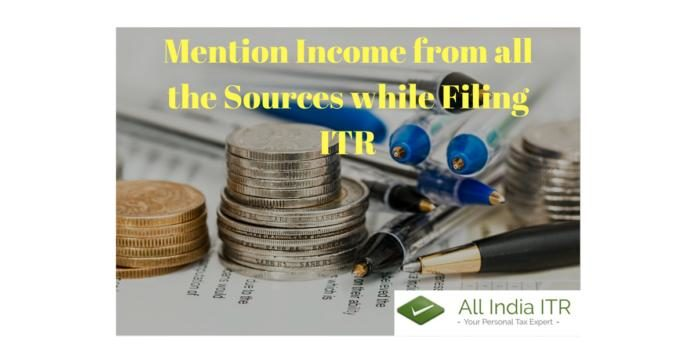 mention income from all the sources