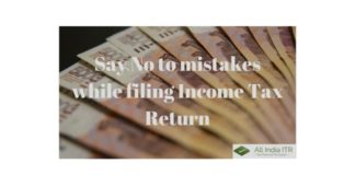 say no to mistake while itr filing
