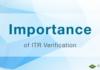 Importance of ITR Verification