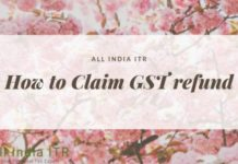 how to claim gst refund