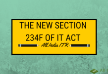 The New Section 234F of IT Act