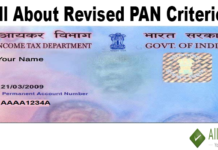 All About Revised PAN Criterion