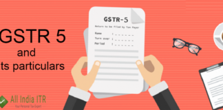 GSTR 5 and its particulars