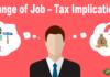 Change of Job – Tax Implications