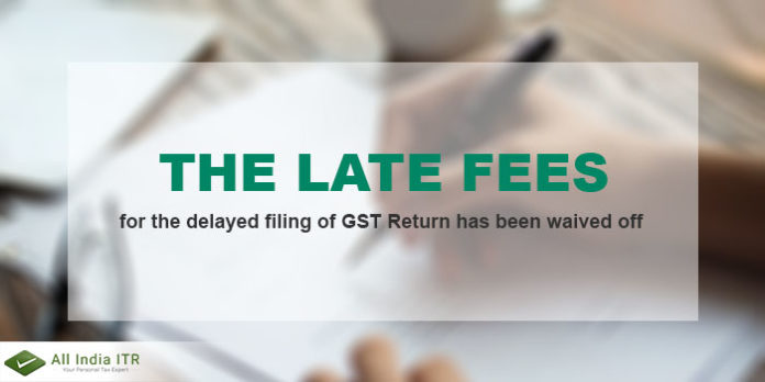 late fee waived off on GSTR