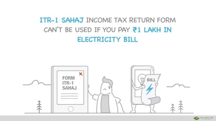 ITR-1 Sahaj income tax return