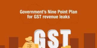 Government's Nine Point Plan for GST revenue leaks