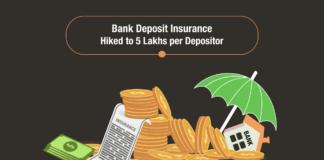 Bank Deposit Insurance Hiked to 5 Lakhs per Depositor
