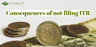 Consequences of not filing ITR
