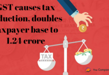 GST causes tax reduction, doubles the taxpayer base