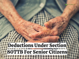 Deductions Under Section 80TTB For Senior Citizens