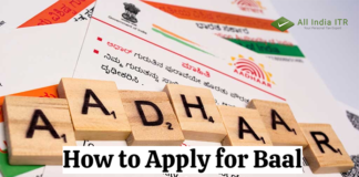 How to Apply for Baal Aadhaar Online For Your Children?