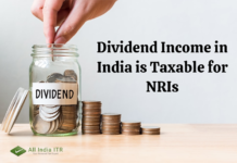 Dividend Income in India is Taxable for NRIs