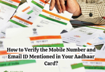 How to Verify the Mobile Number and Email ID Mentioned in your Aadhaar Card?