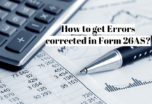 How to get Errors corrected in Form 26AS?