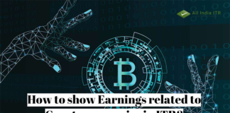 How to show Earnings related to Cryptocurrencies in ITR?