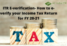 ITR E-verification- How to e-verify your Income Tax Return for FY 20-21