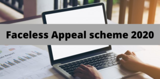 Faceless Appeal Scheme 2020